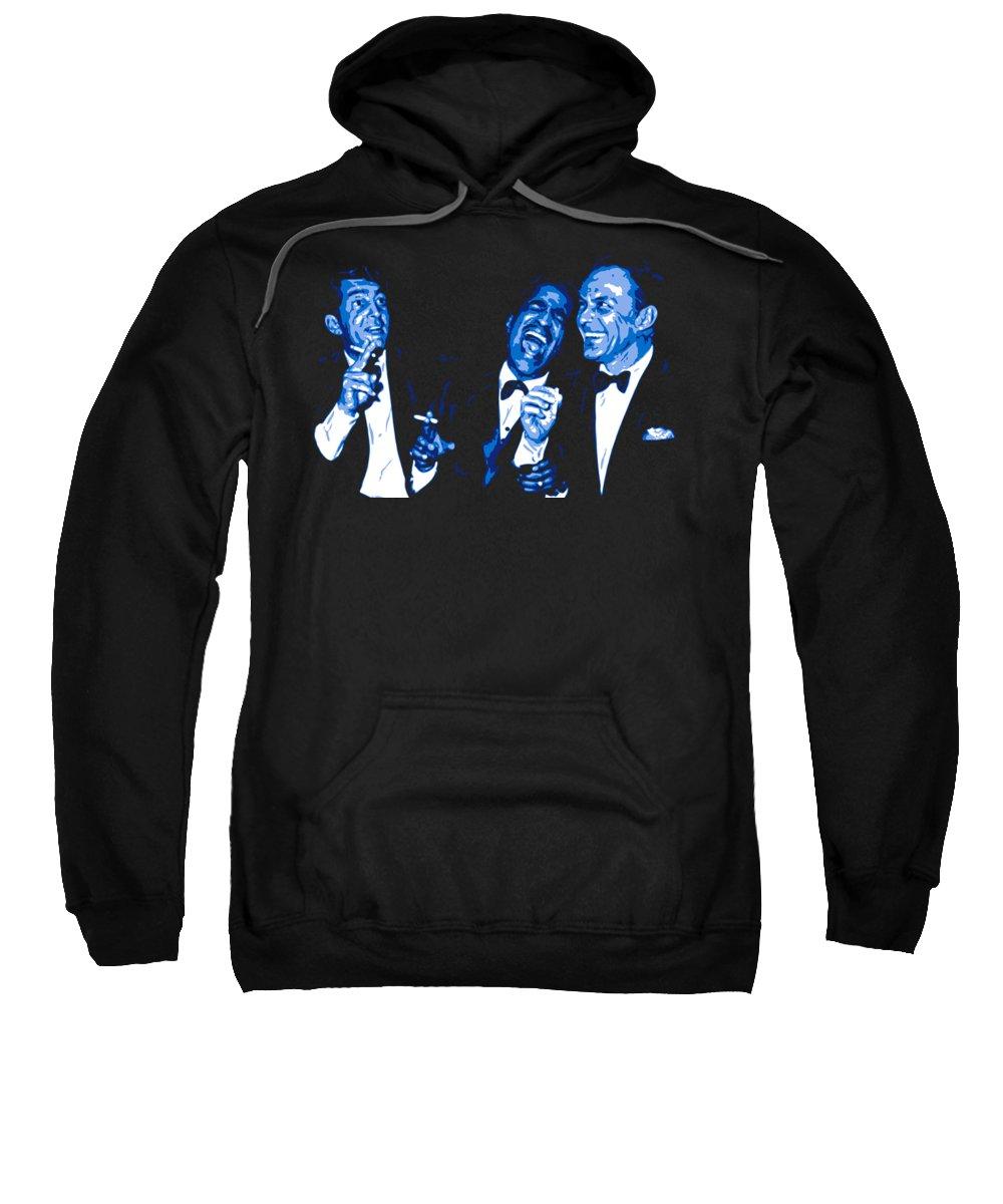 Frank Sinatra Sweatshirt featuring the digital art Rat Pack At Carnegie Hall by DB Artist