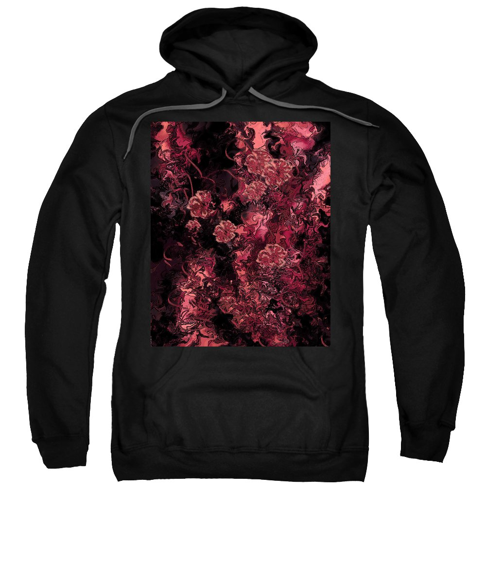 Abstract Sweatshirt featuring the digital art Ravaged Heart by Rachel Christine Nowicki