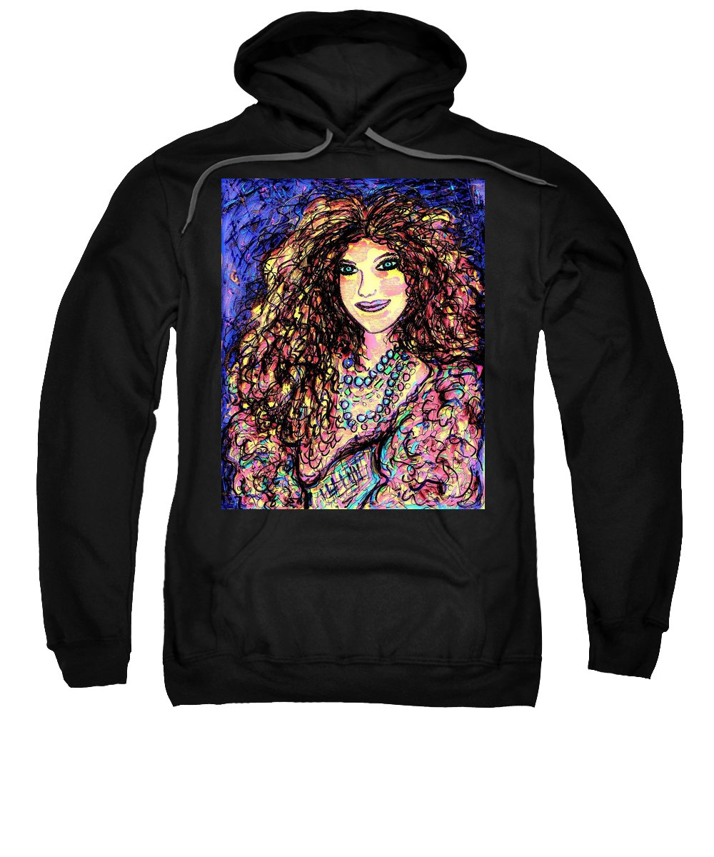 Woman Sweatshirt featuring the painting Ravishing Beauty by Natalie Holland