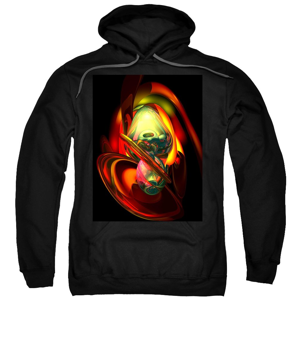 3d Sweatshirt featuring the digital art Raw Fury Abstract by Alexander Butler