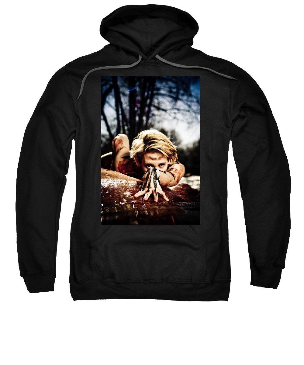 Woman Sweatshirt featuring the photograph Reach by Scott Sawyer