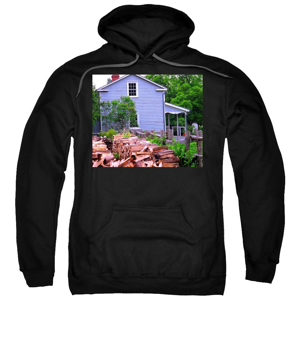 Pioneer Sweatshirt featuring the photograph Ready For Winter by Ian MacDonald