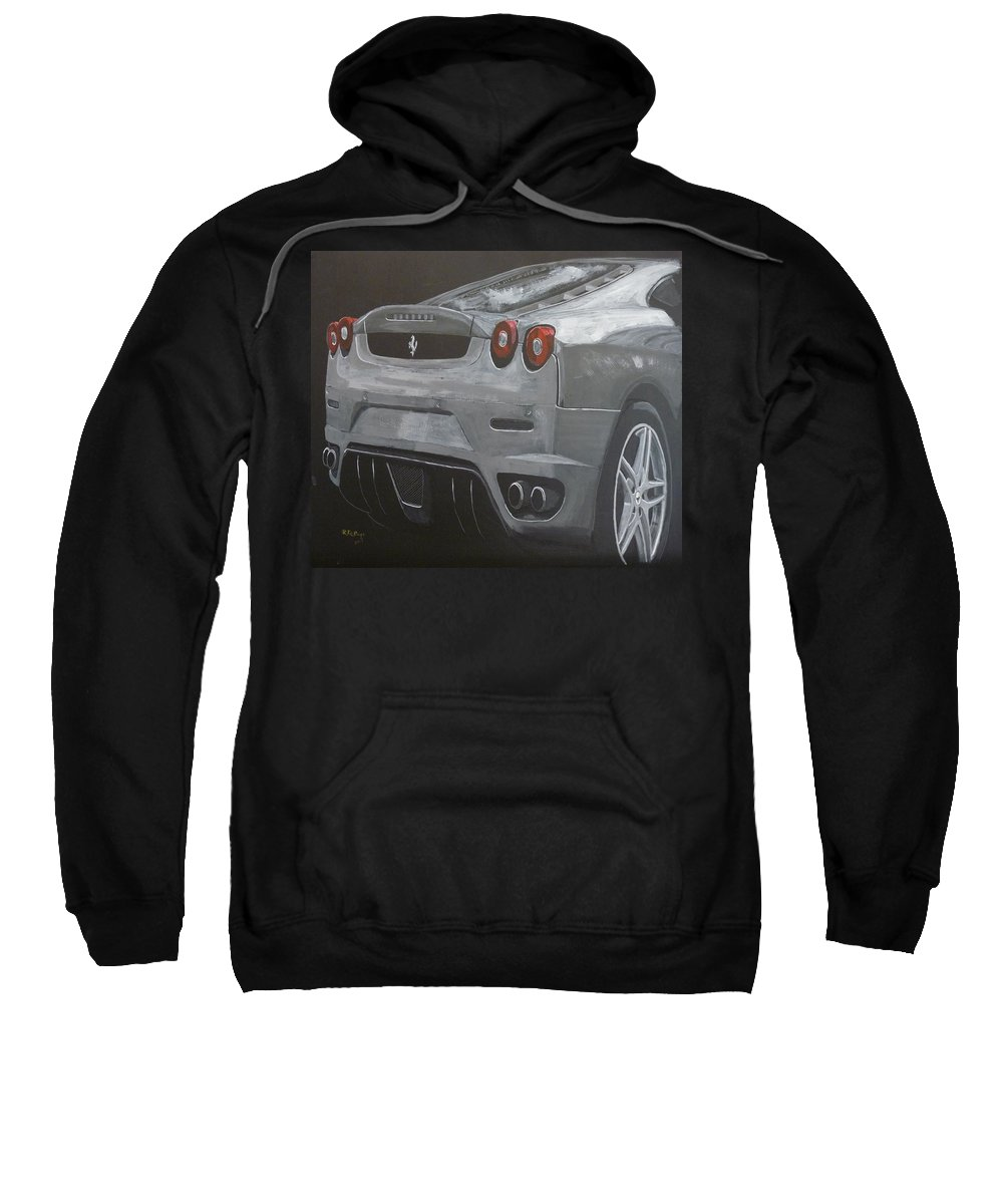 Ferrari Sweatshirt featuring the painting Rear Ferrari F430 by Richard Le Page