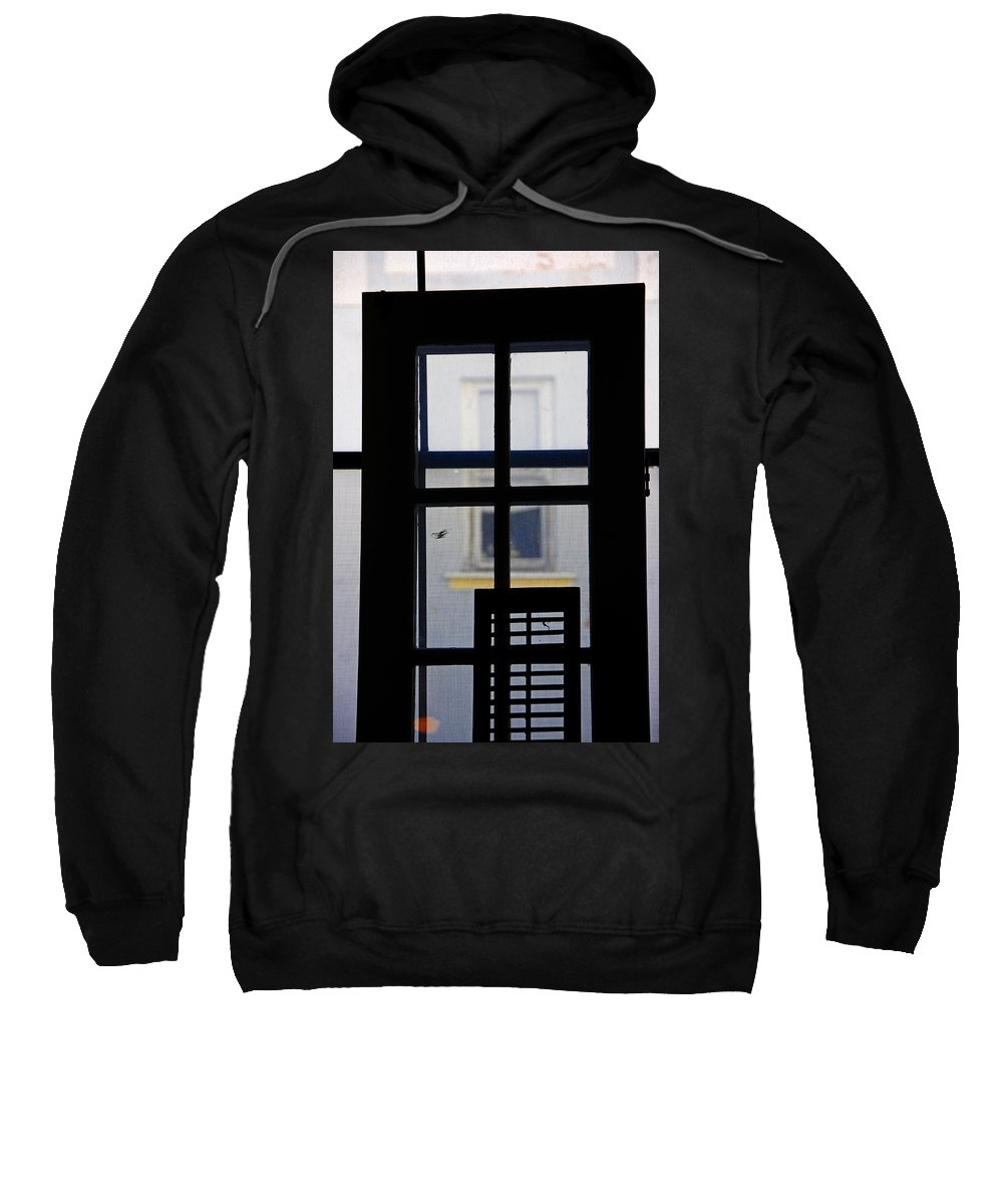 Architecture Sweatshirt featuring the photograph Rear Window 2 by Skip Hunt