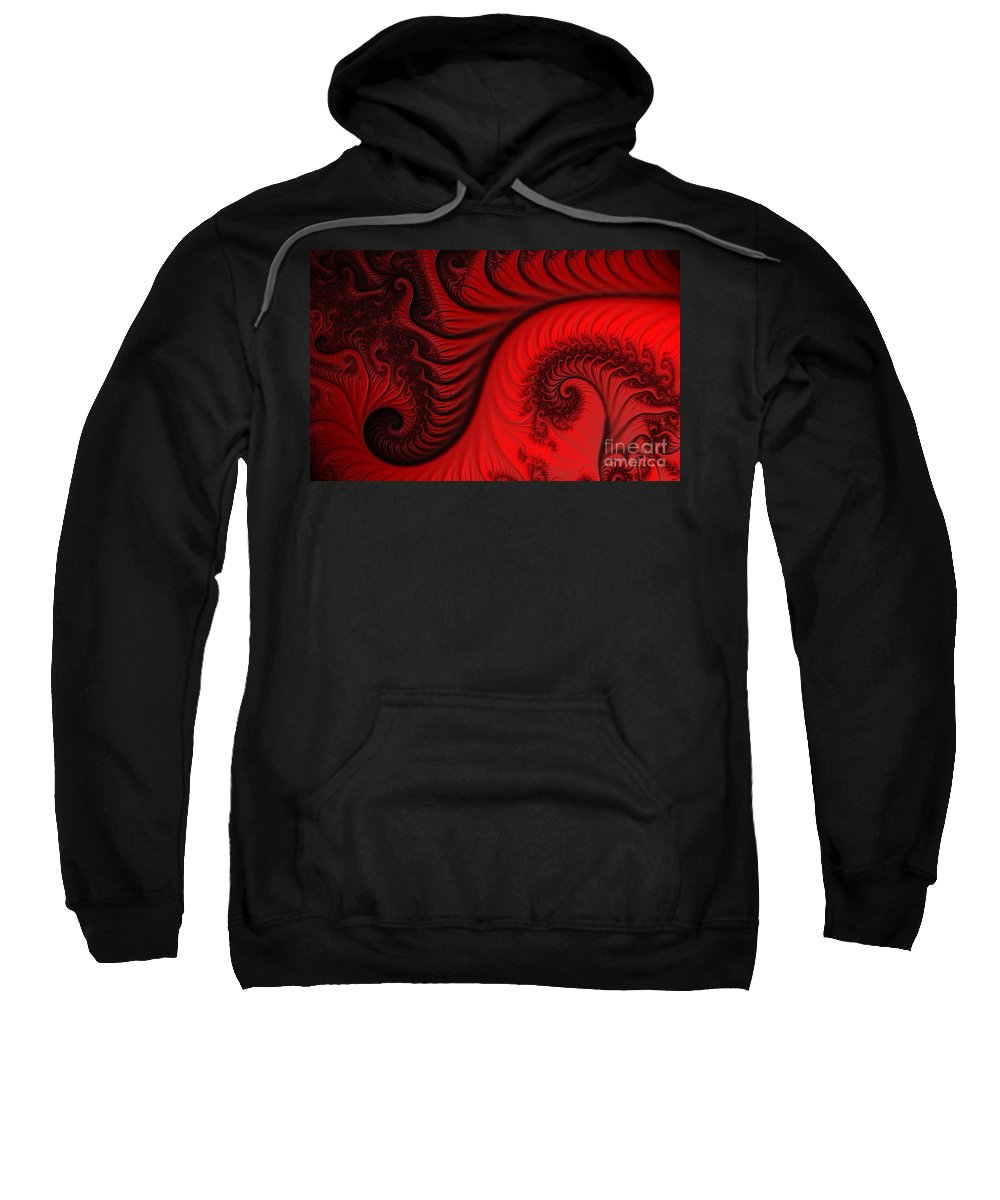 Clay Sweatshirt featuring the digital art Red Ants by Clayton Bruster