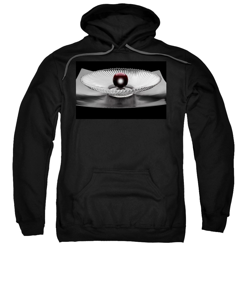 Ball Sweatshirt featuring the photograph Red Ball by Manfred Lutzius