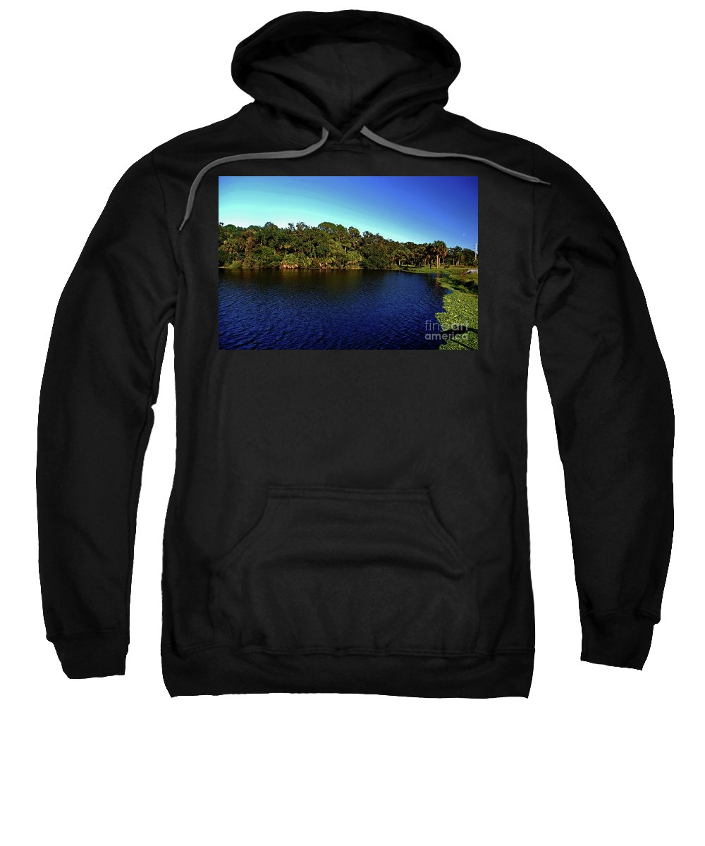 Lake Sweatshirt featuring the photograph Red Bugg Slough by Gary Wonning