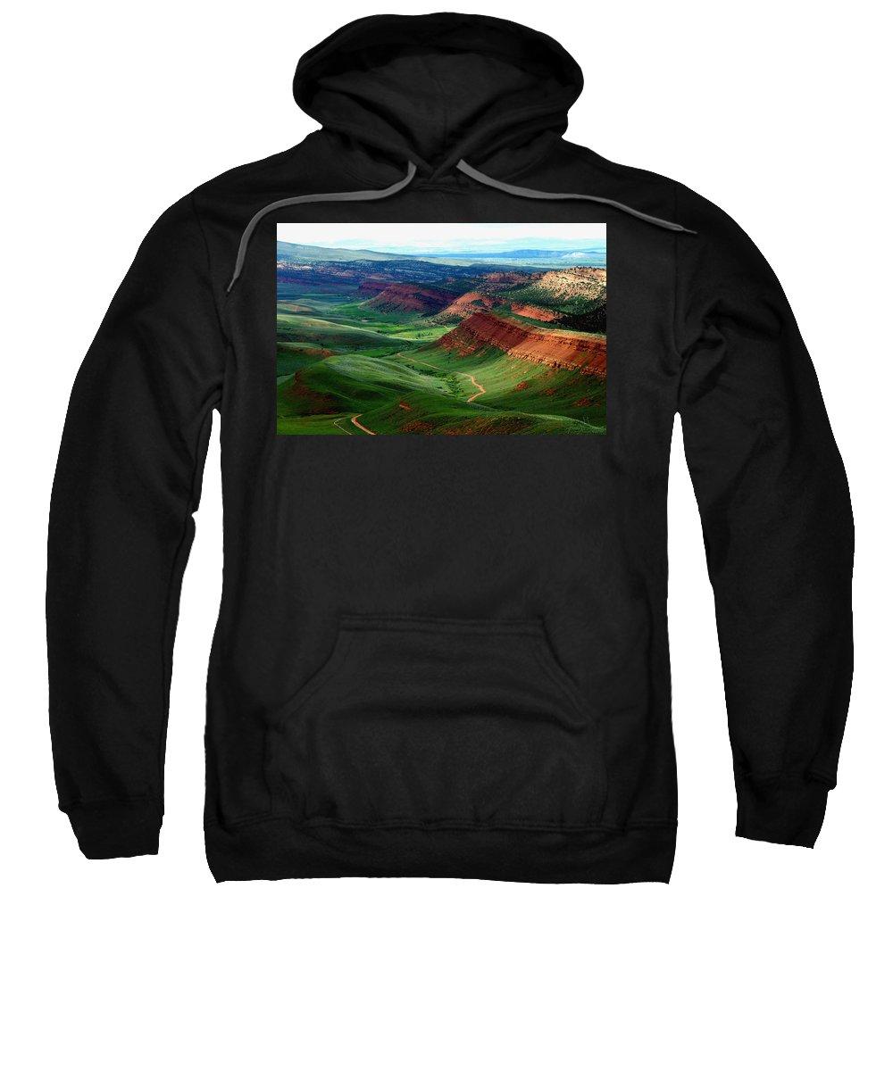 Jenny Gandert Sweatshirt featuring the photograph Red Canyon by Jenny Gandert
