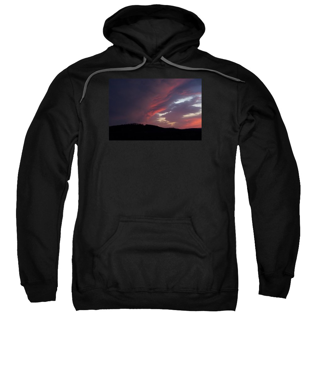 Red Clouds Sweatshirt featuring the photograph Red Clouds 2 by Toni Berry
