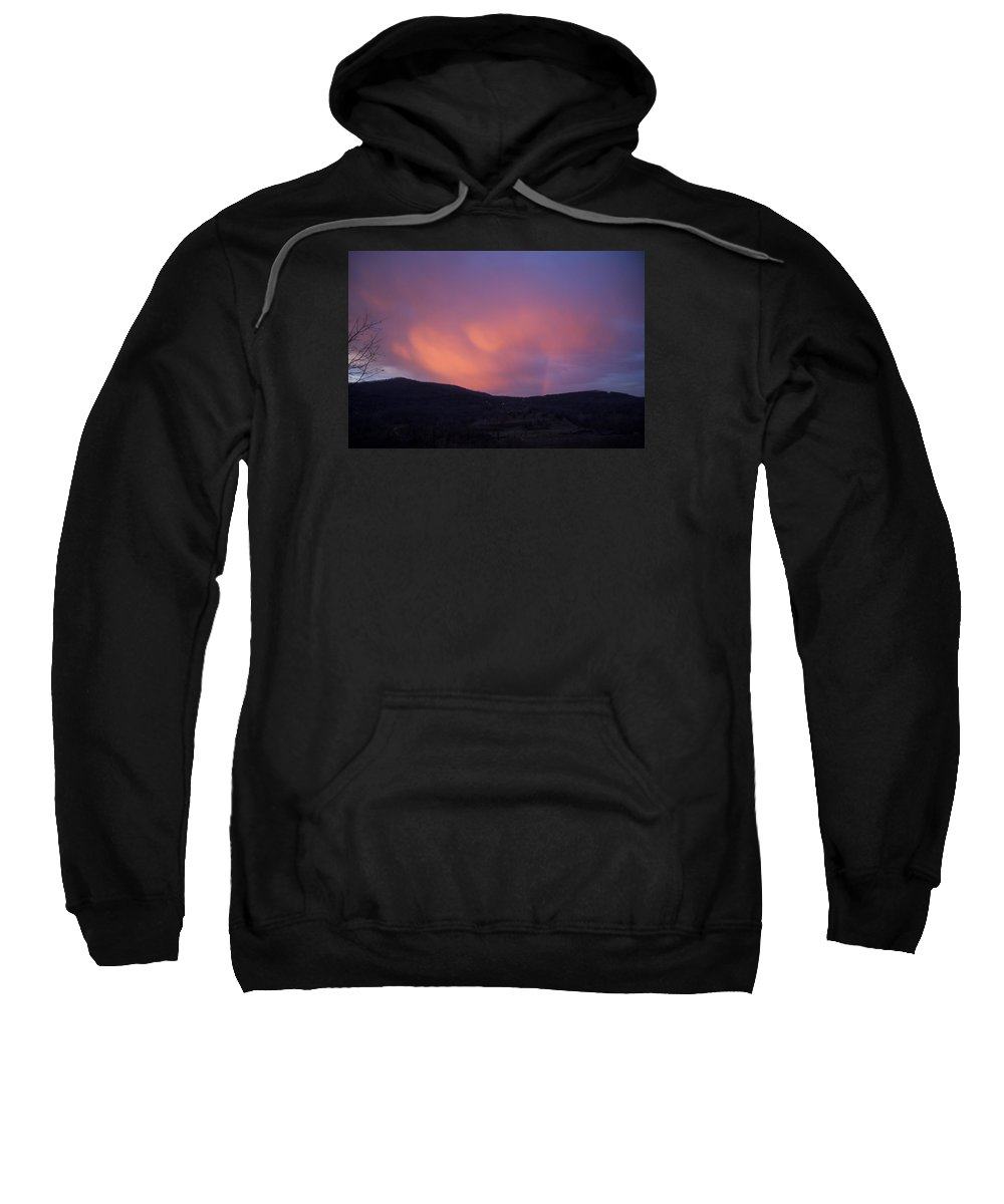Sunset Sweatshirt featuring the photograph Red Clouds by Toni Berry