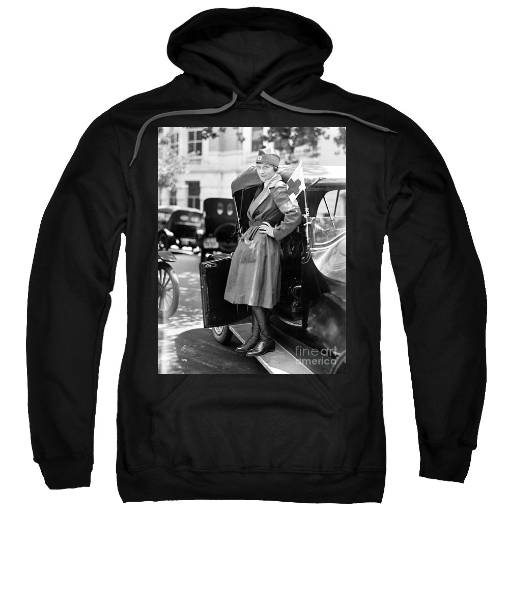 1917 Sweatshirt featuring the photograph Red Cross, 1917 by Granger