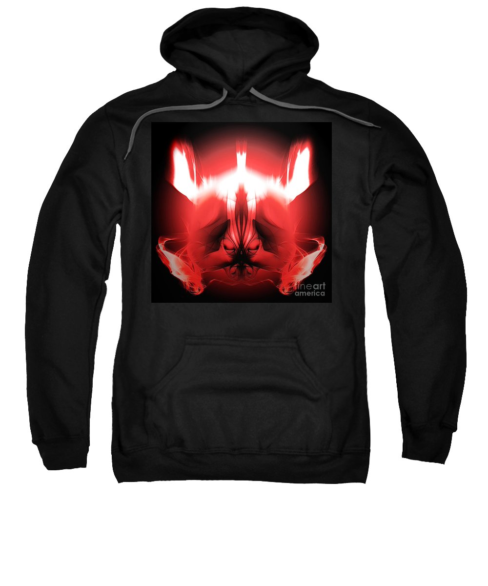 Clay Sweatshirt featuring the digital art Red Descent by Clayton Bruster