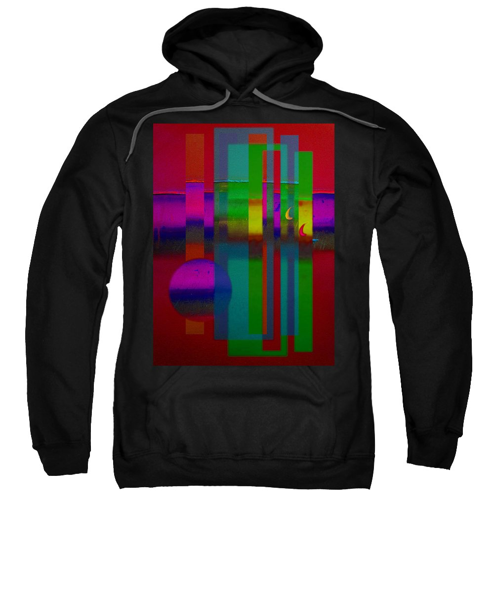 Landscape Sweatshirt featuring the painting Red Doors by Charles Stuart