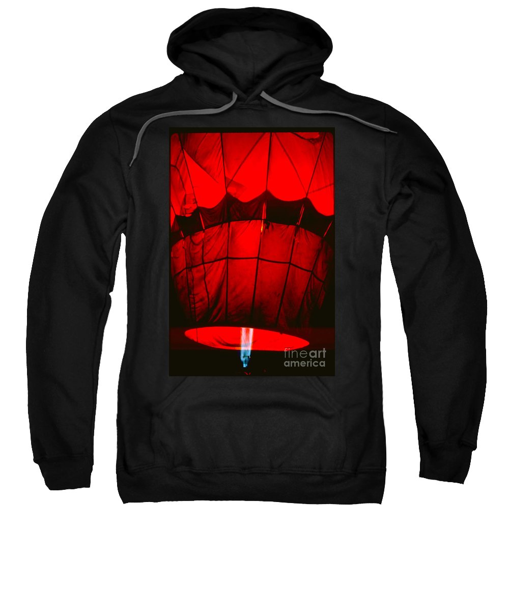 Balloon Sweatshirt featuring the photograph Red Hot Air Balloon by Thomas Marchessault