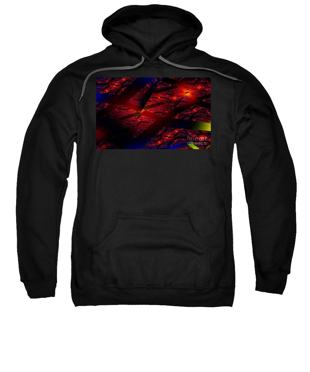 Clay Sweatshirt featuring the digital art Red Hot Confetti by Clayton Bruster