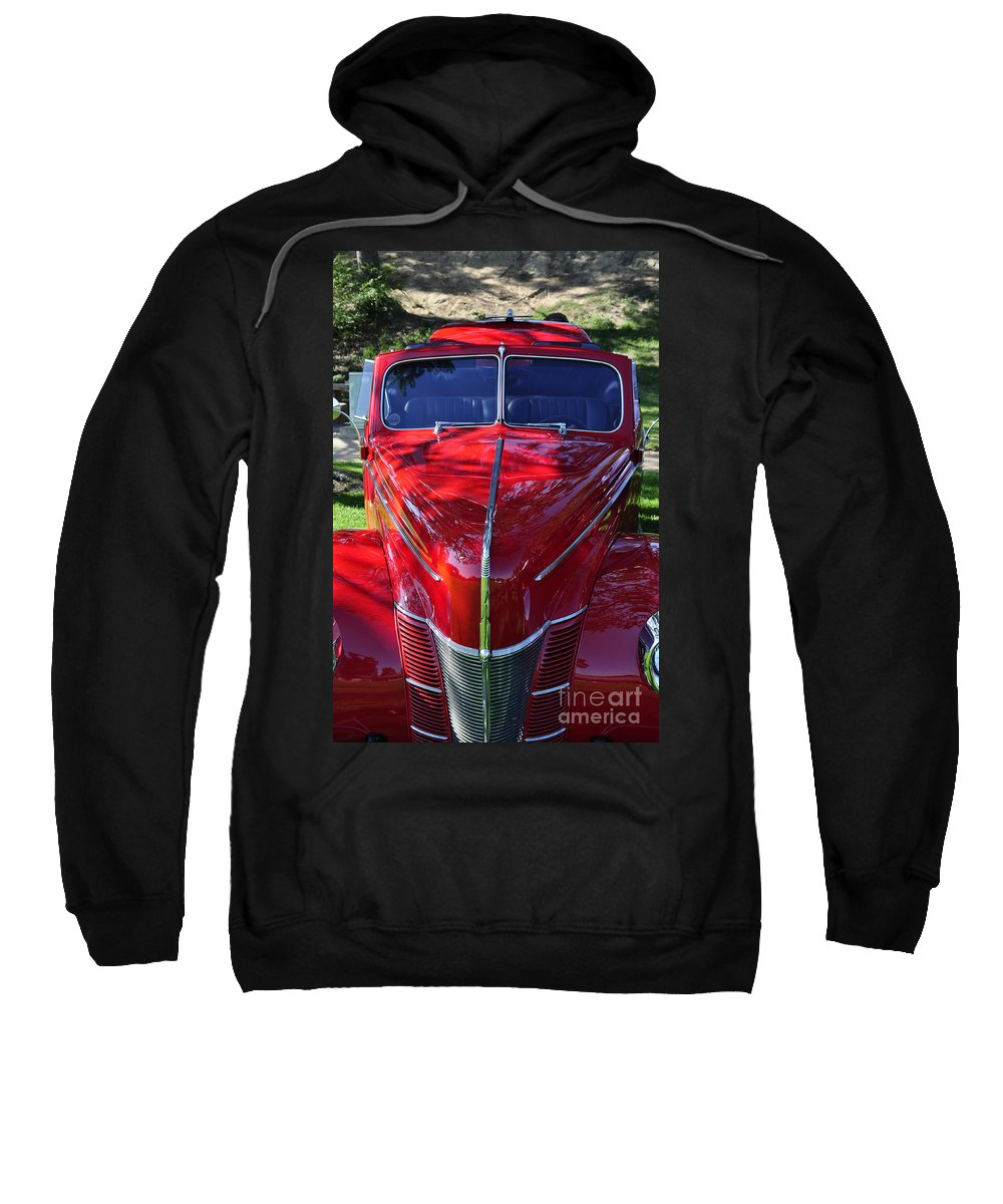 Clay Sweatshirt featuring the photograph Red Hot Rod by Clayton Bruster