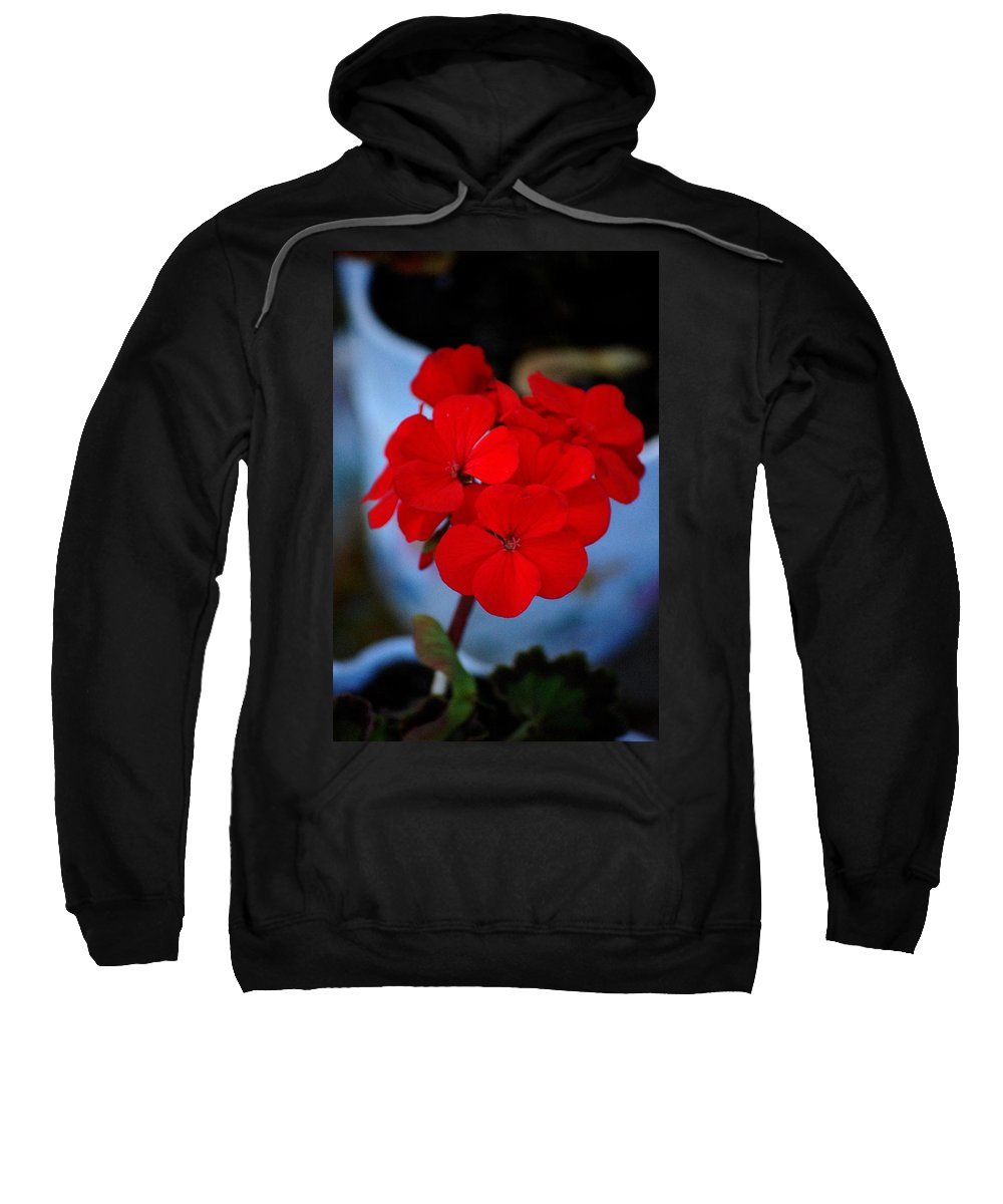 Sweatshirt featuring the photograph Red Menace by David Lane