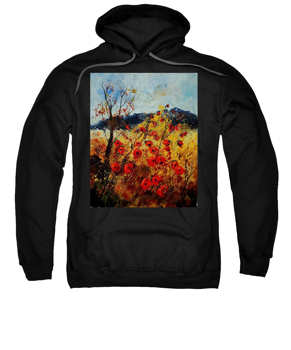 Poppies Sweatshirt featuring the painting Red Poppies In Provence by Pol Ledent