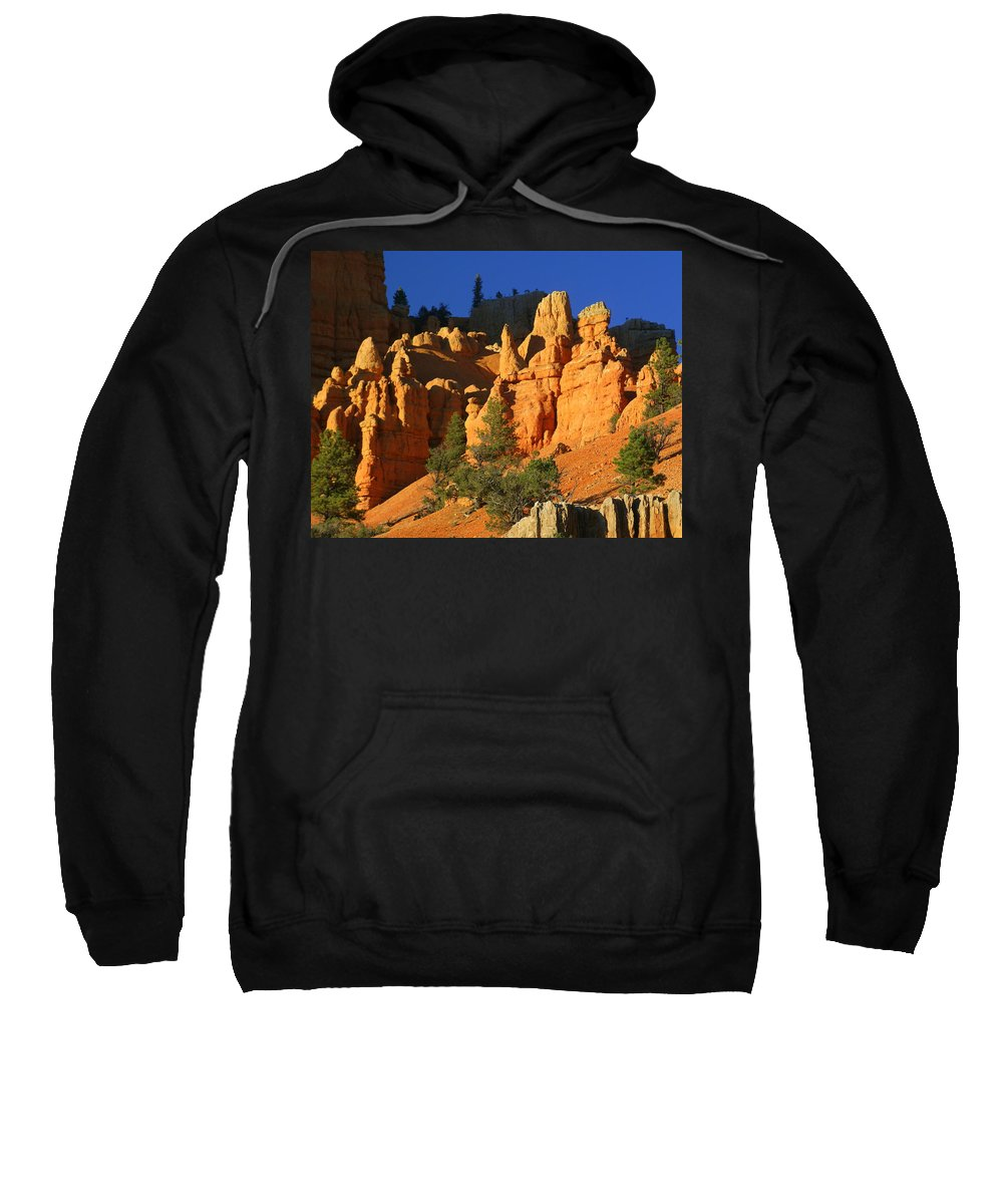 Red Rock Canyon Sweatshirt featuring the photograph Red Rock Canoyon At Sunset by Marty Koch