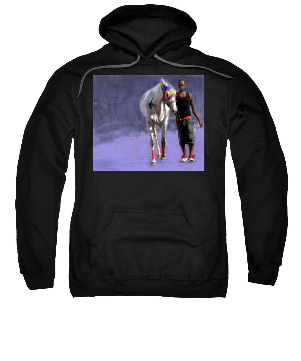 Horse Sweatshirt featuring the photograph Red Shoes by Ian MacDonald