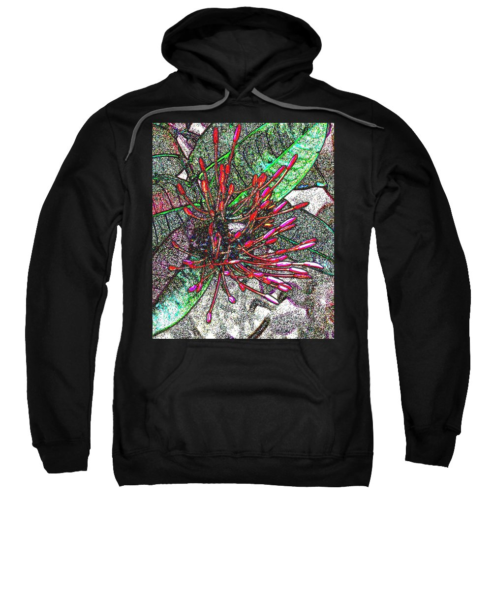 Flower Sweatshirt featuring the photograph Red Tropical Flower by Ian MacDonald