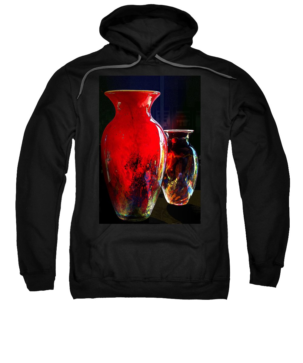 Red Vase Sweatshirt featuring the photograph Red Vase by Paul Wear