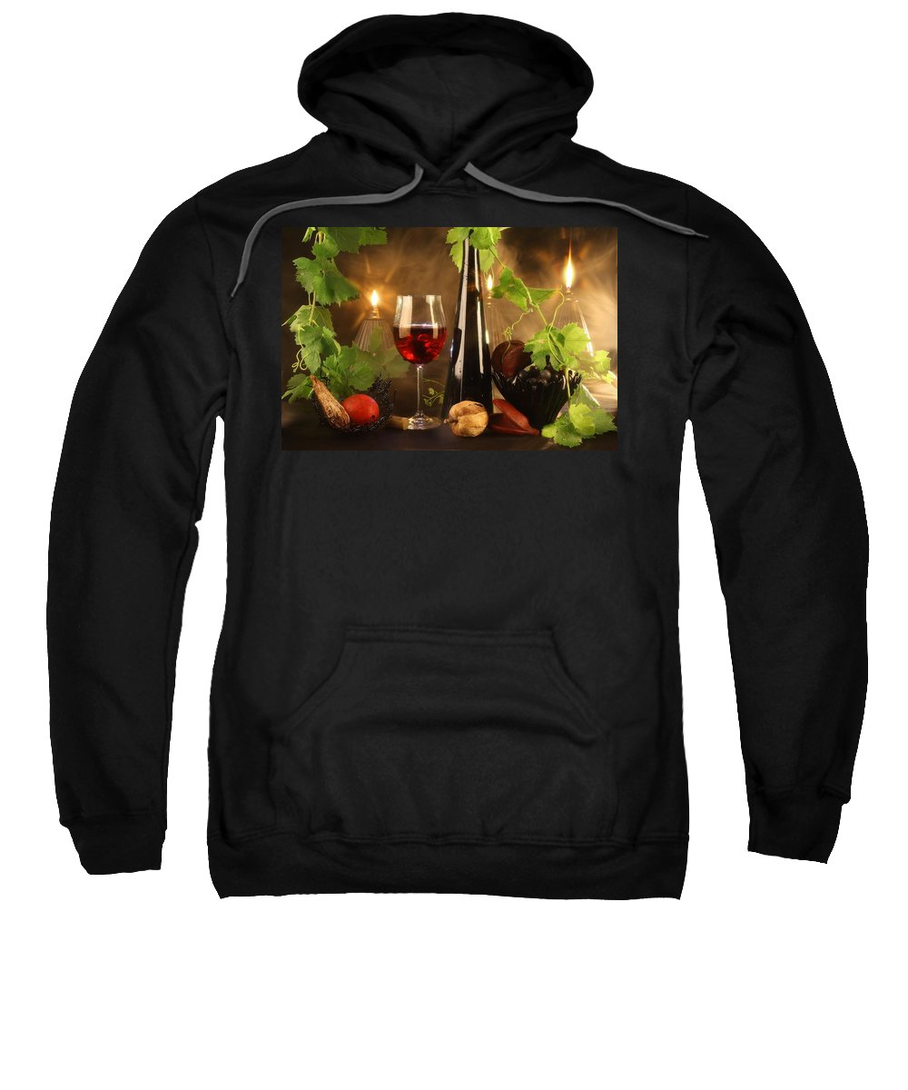 Wine Sweatshirt featuring the photograph Red Wine by Manfred Lutzius