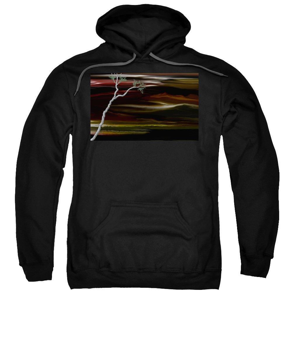 Digital Landscape Sweatshirt featuring the digital art Redscape by David Lane