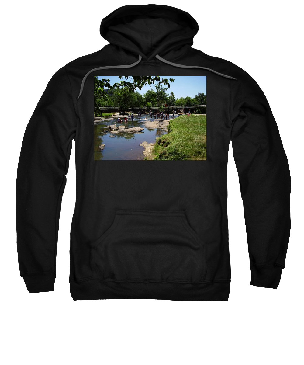 Reedy River Sweatshirt featuring the photograph Reedy River by Flavia Westerwelle