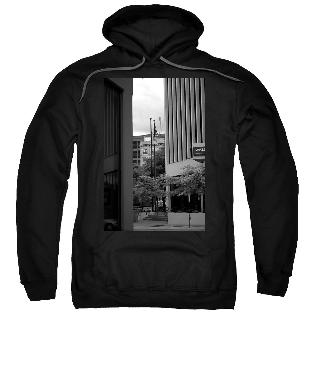 Sioux Falls Sweatshirt featuring the photograph Refections Old Glory by Mike Oistad