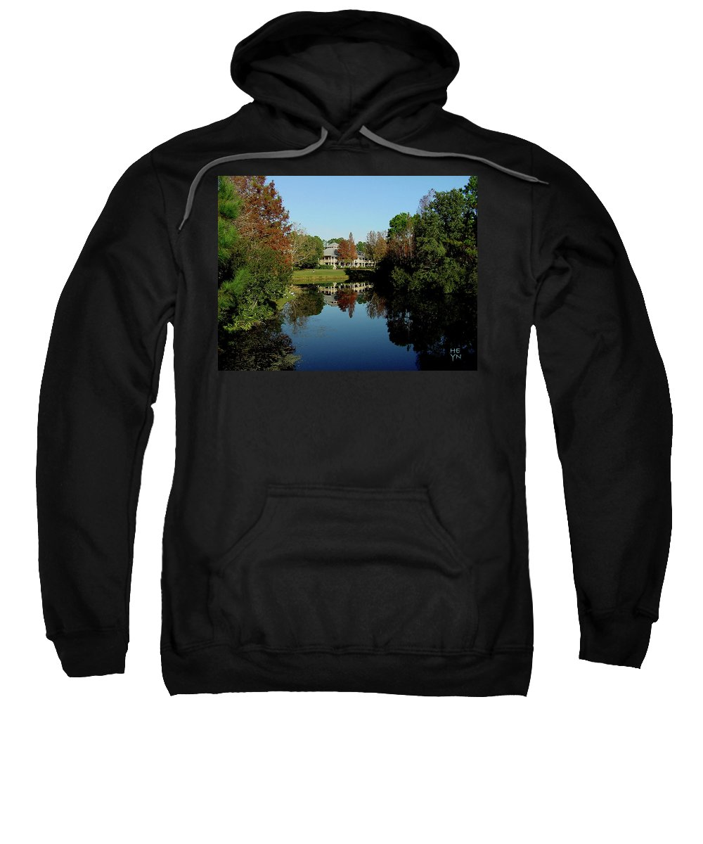 Mansion Sweatshirt featuring the photograph Reflected Elegance by Shirley Heyn