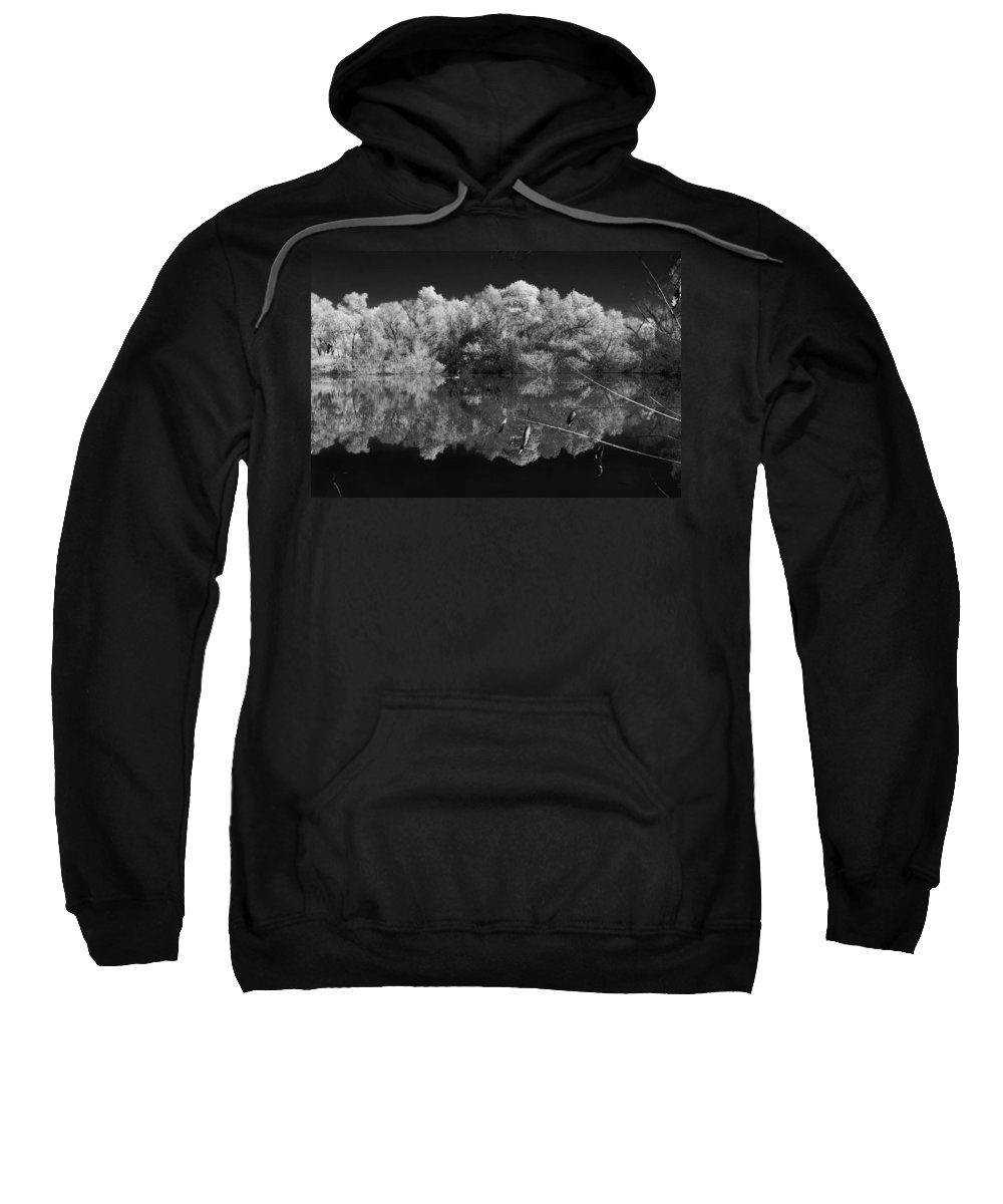 Pond Sweatshirt featuring the photograph Reflecting Pond by Thomas Morris