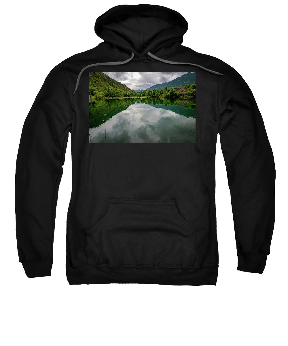 French Alps Sweatshirt featuring the photograph Reflection by Jim Hillman