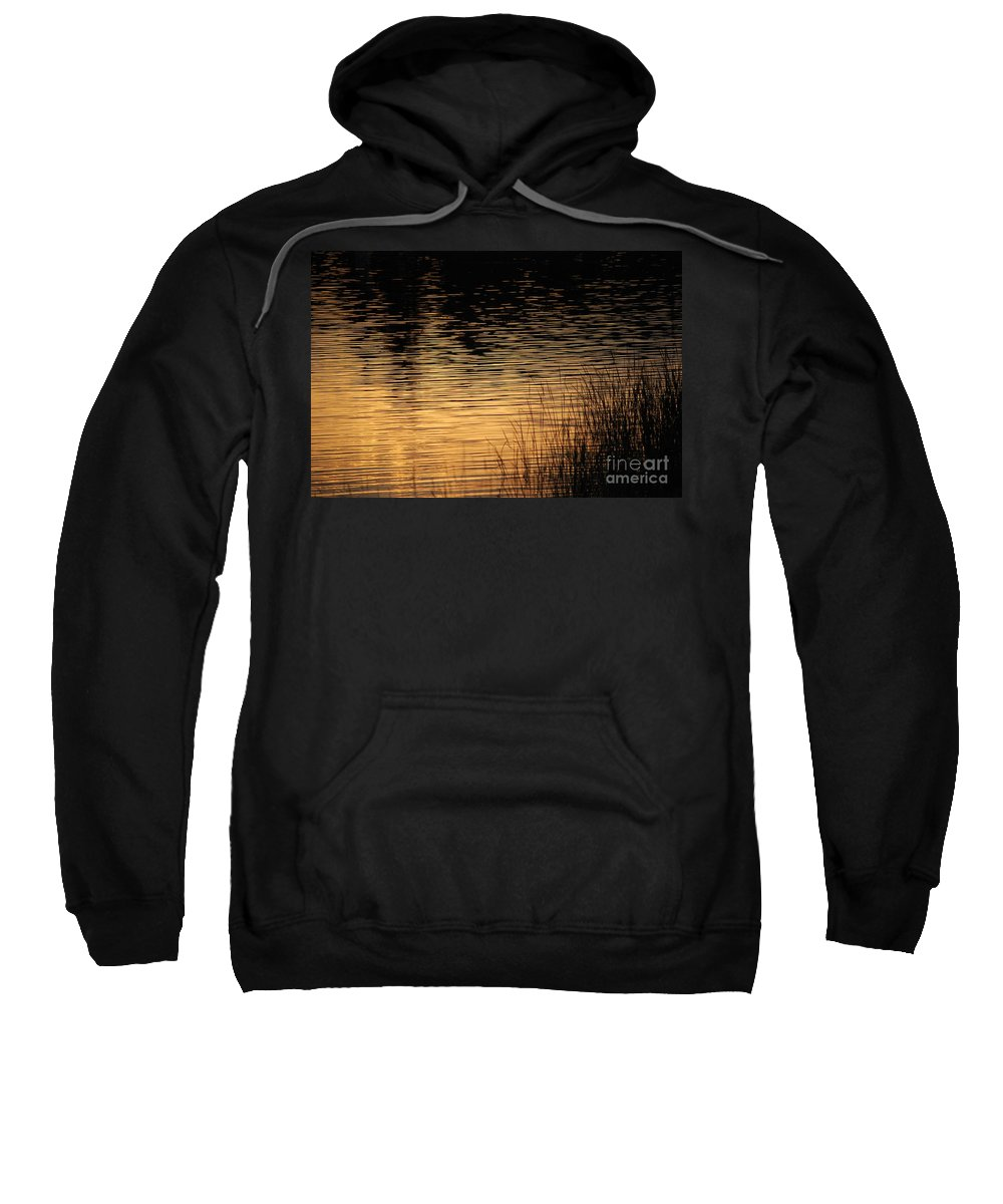 Digital Photo Sweatshirt featuring the photograph Reflection On A Sunset by David Lane