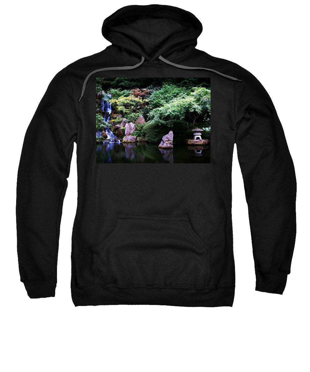Reflection Sweatshirt featuring the photograph Reflection Pond by Anthony Jones
