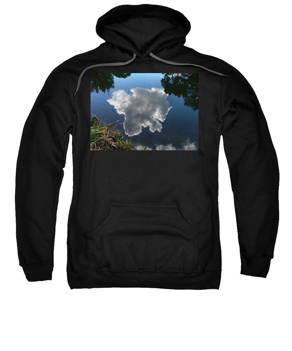 Pecos Sweatshirt featuring the photograph Reflection by Steven Natanson