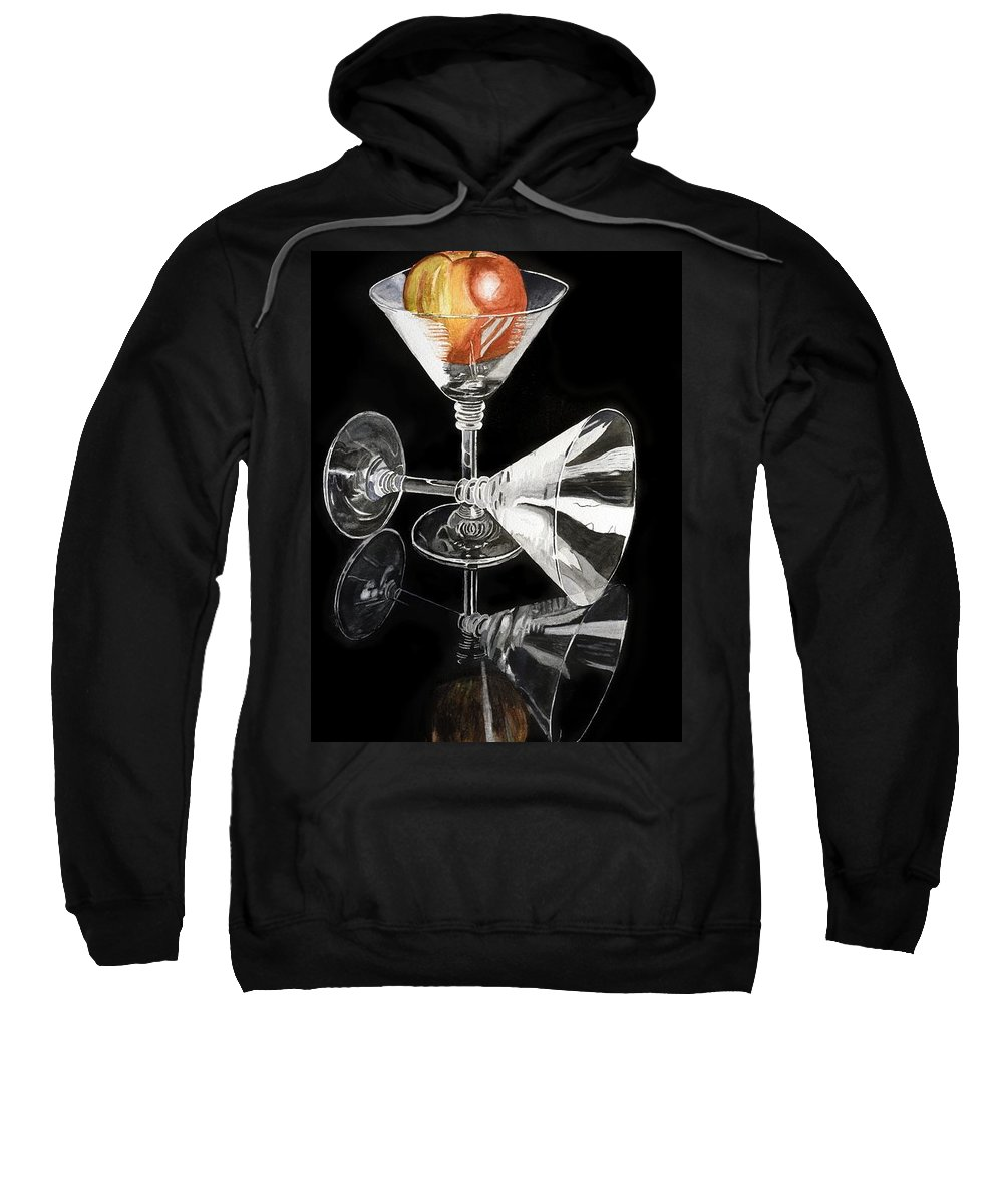 Reflections Sweatshirt featuring the painting Reflections by Frank Hamilton