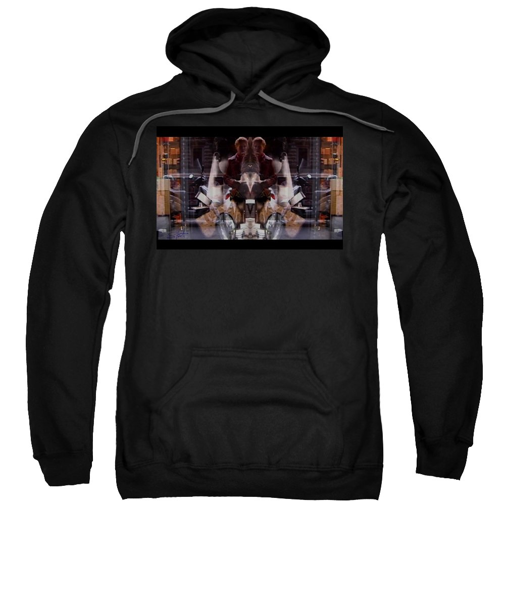Dream Sweatshirt featuring the photograph Reflections In A Pharmacy Window by Charles Stuart