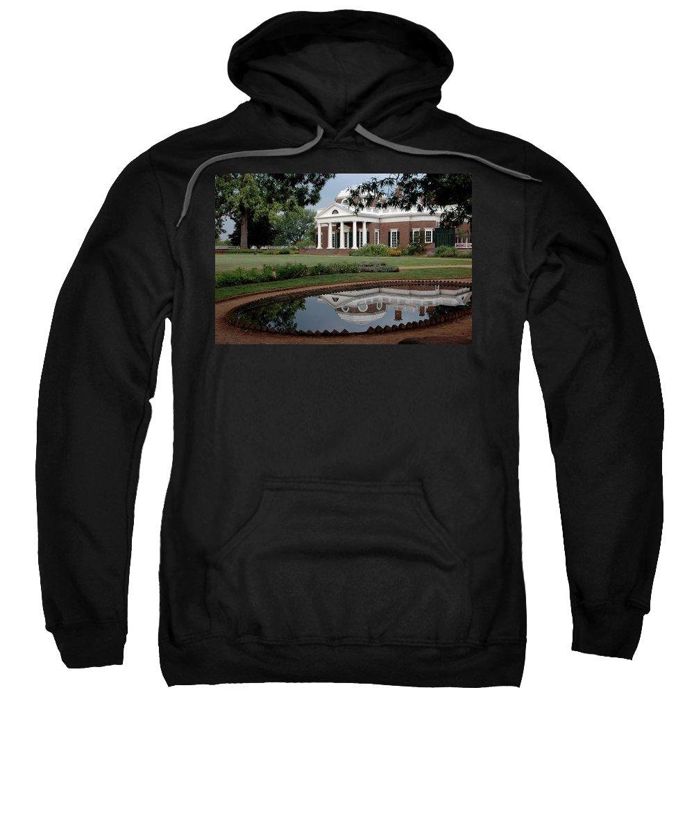 Usa Sweatshirt featuring the photograph Reflections Of Monticello by LeeAnn McLaneGoetz McLaneGoetzStudioLLCcom