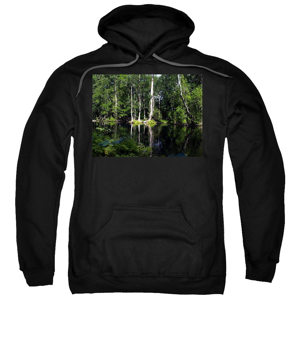 Reflections Sweatshirt featuring the photograph Reflections On The Ocklawaha River by Bob Johnson