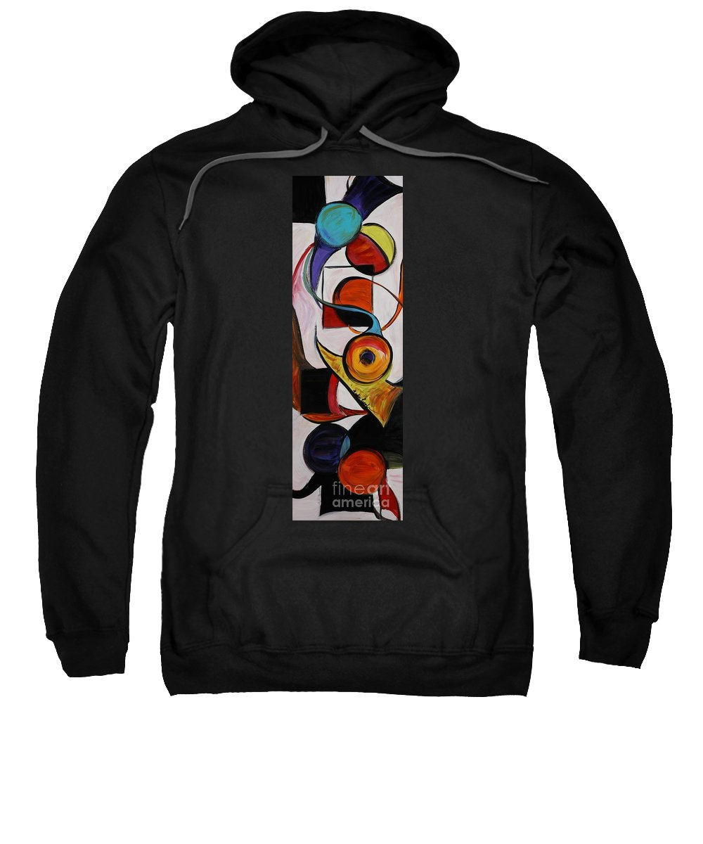 Shapes Sweatshirt featuring the painting Relationships by Nadine Rippelmeyer