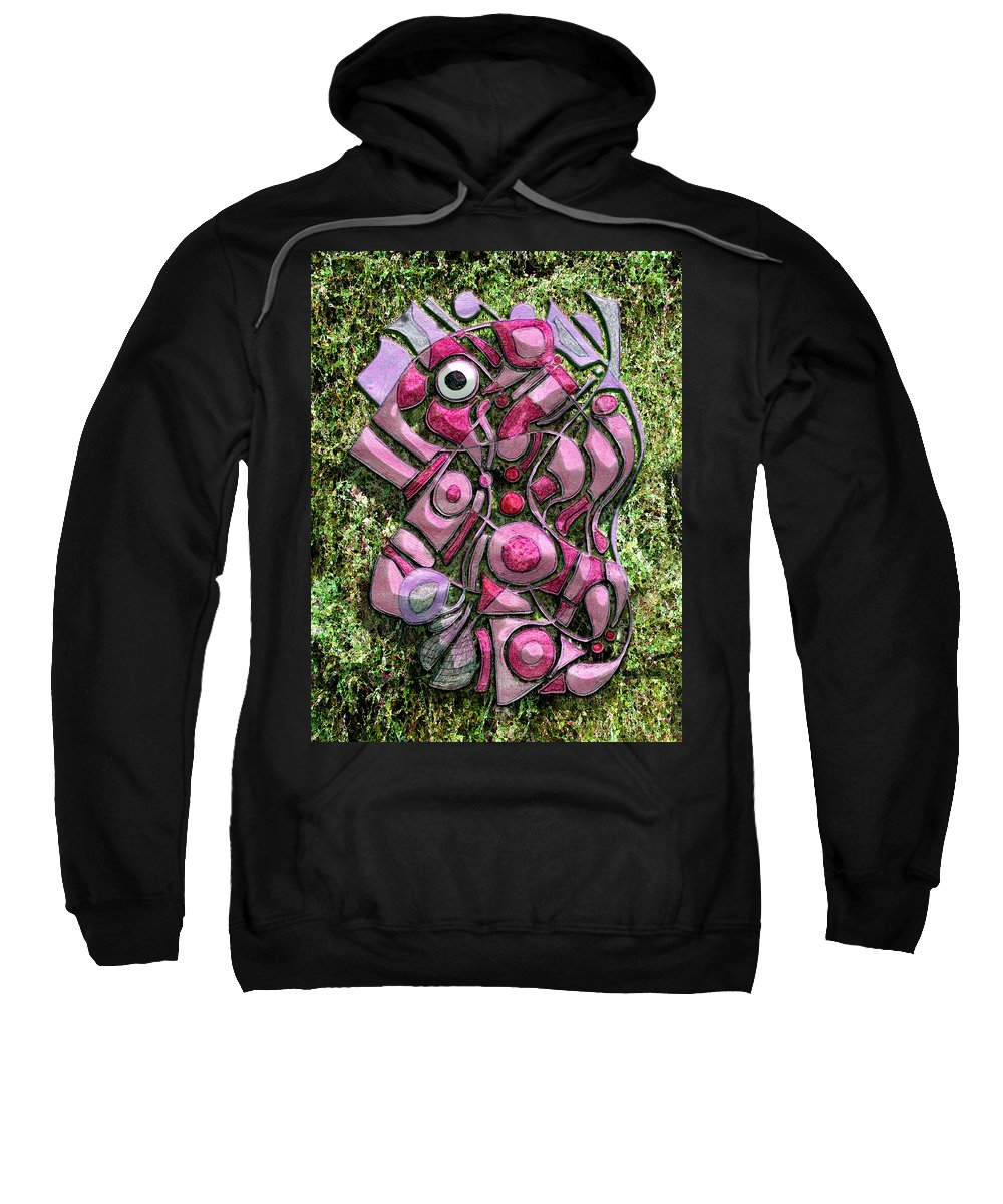 Abstract Sweatshirt featuring the digital art Relaxing Piglet by Mark Sellers