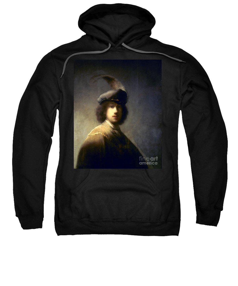 1629 Sweatshirt featuring the photograph Rembrandt Van Rijn by Granger