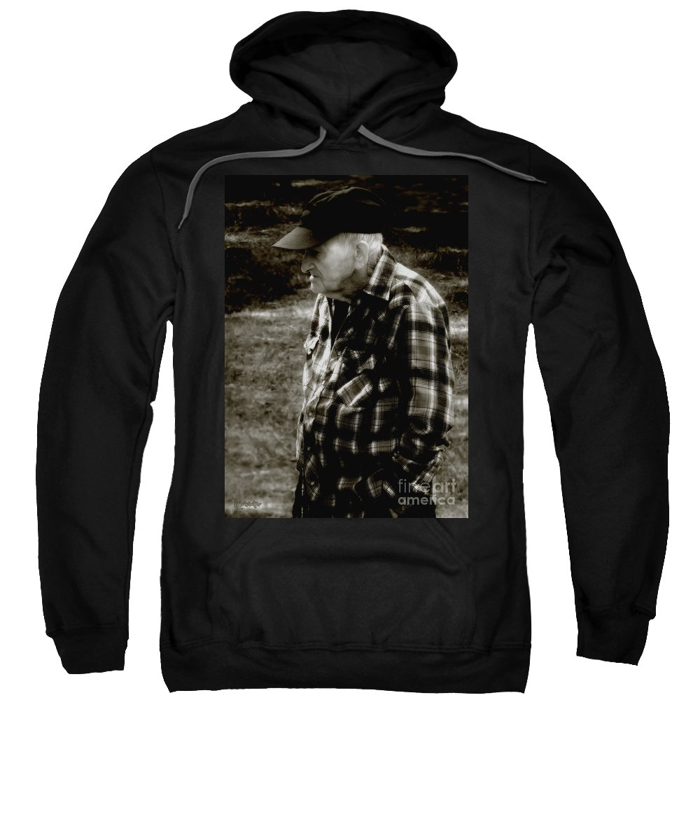 Farmer Sweatshirt featuring the photograph Remembering Hard Times by RC DeWinter