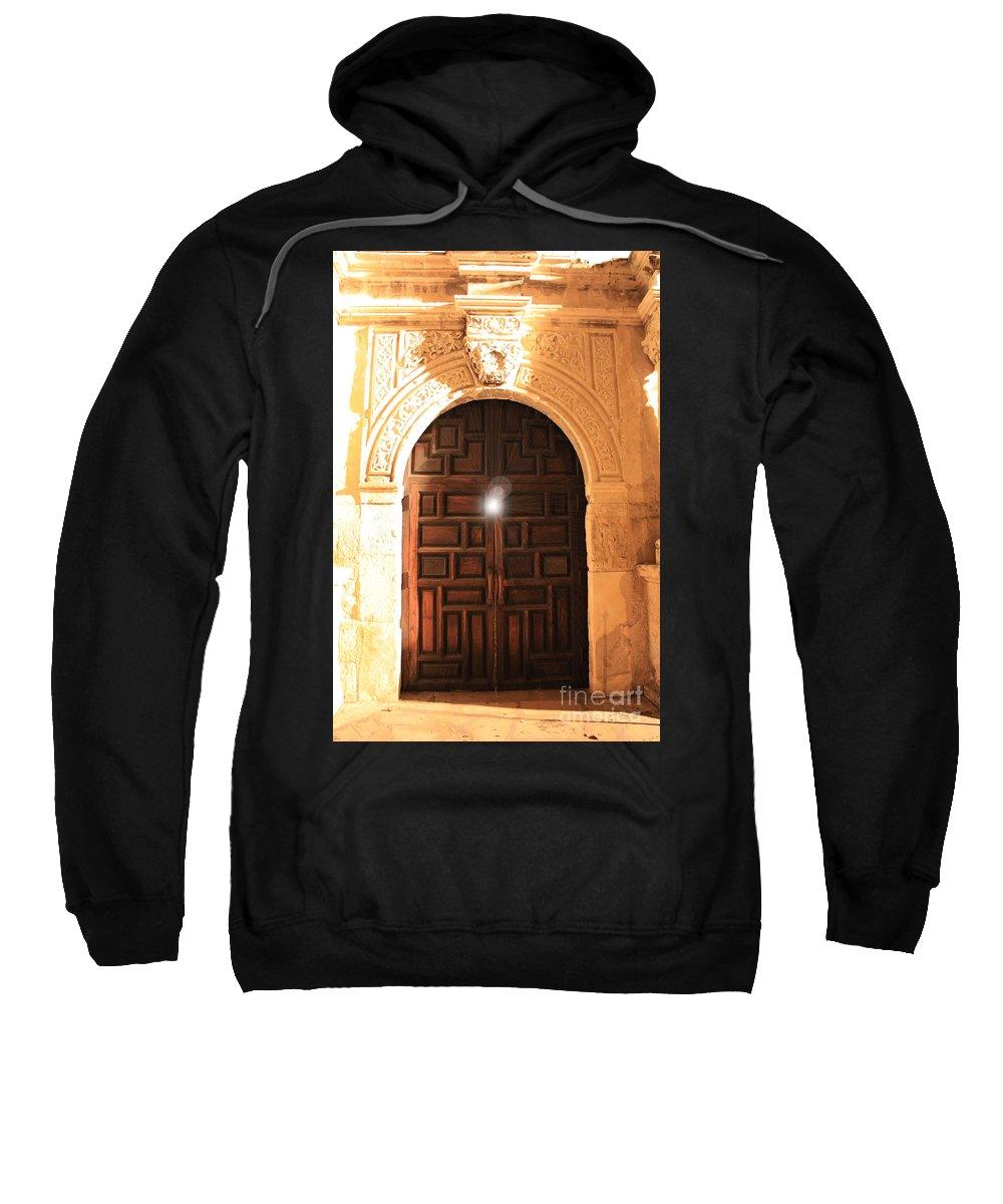 Spirit Of The Alamo Sweatshirt featuring the photograph Remembering The Spirit Of The Alamo by Carol Groenen