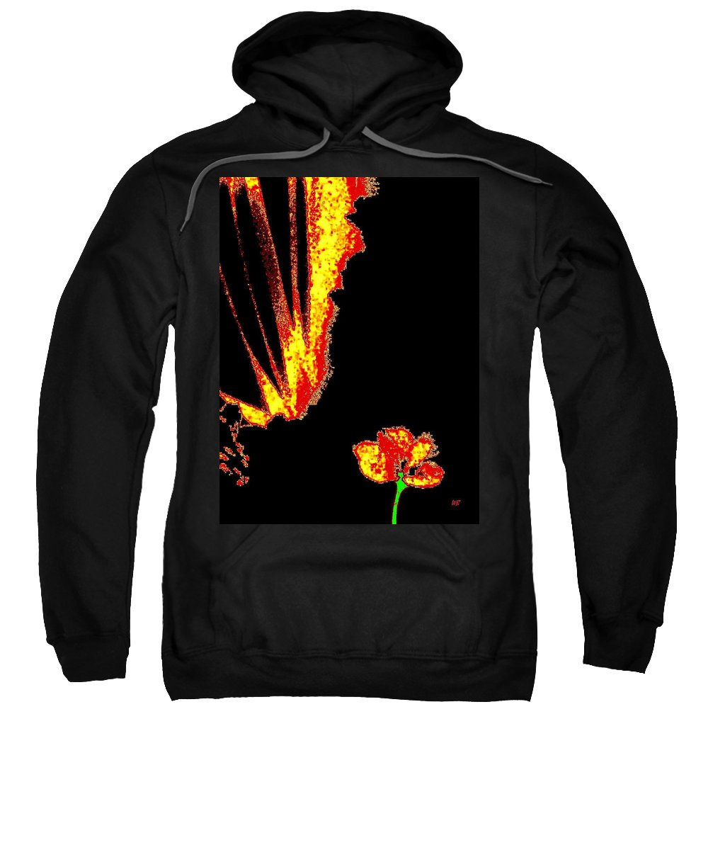 Abstract Sweatshirt featuring the digital art Reminiscence by Will Borden