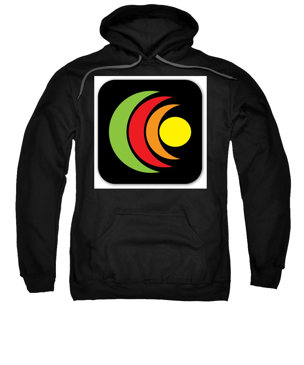 App Icon Sample Design Sweatshirt featuring the photograph Remix - App Icon Black by Alex Art and Photo