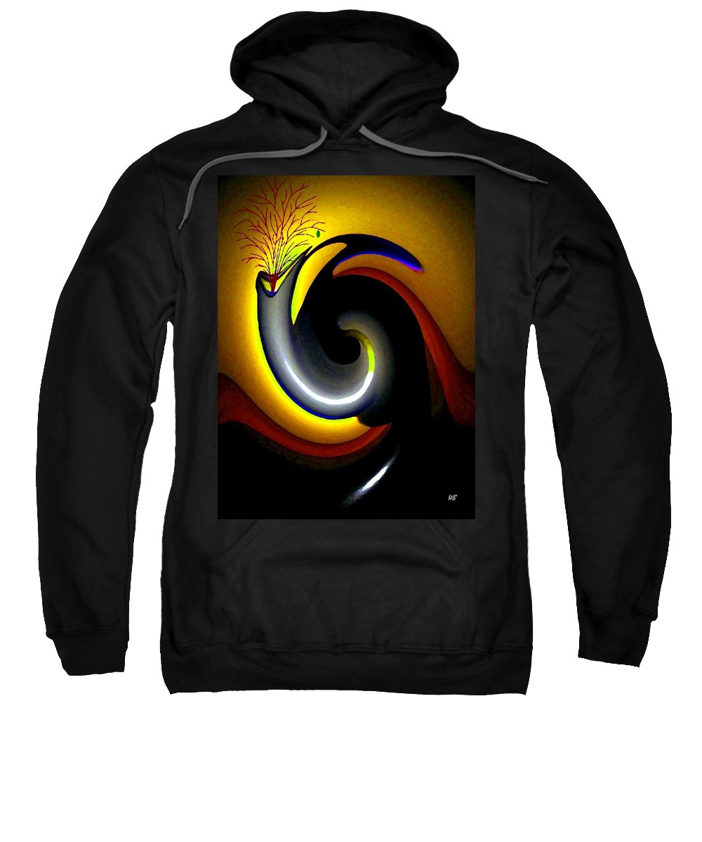 Rebirth Sweatshirt featuring the digital art Renaissance by Will Borden