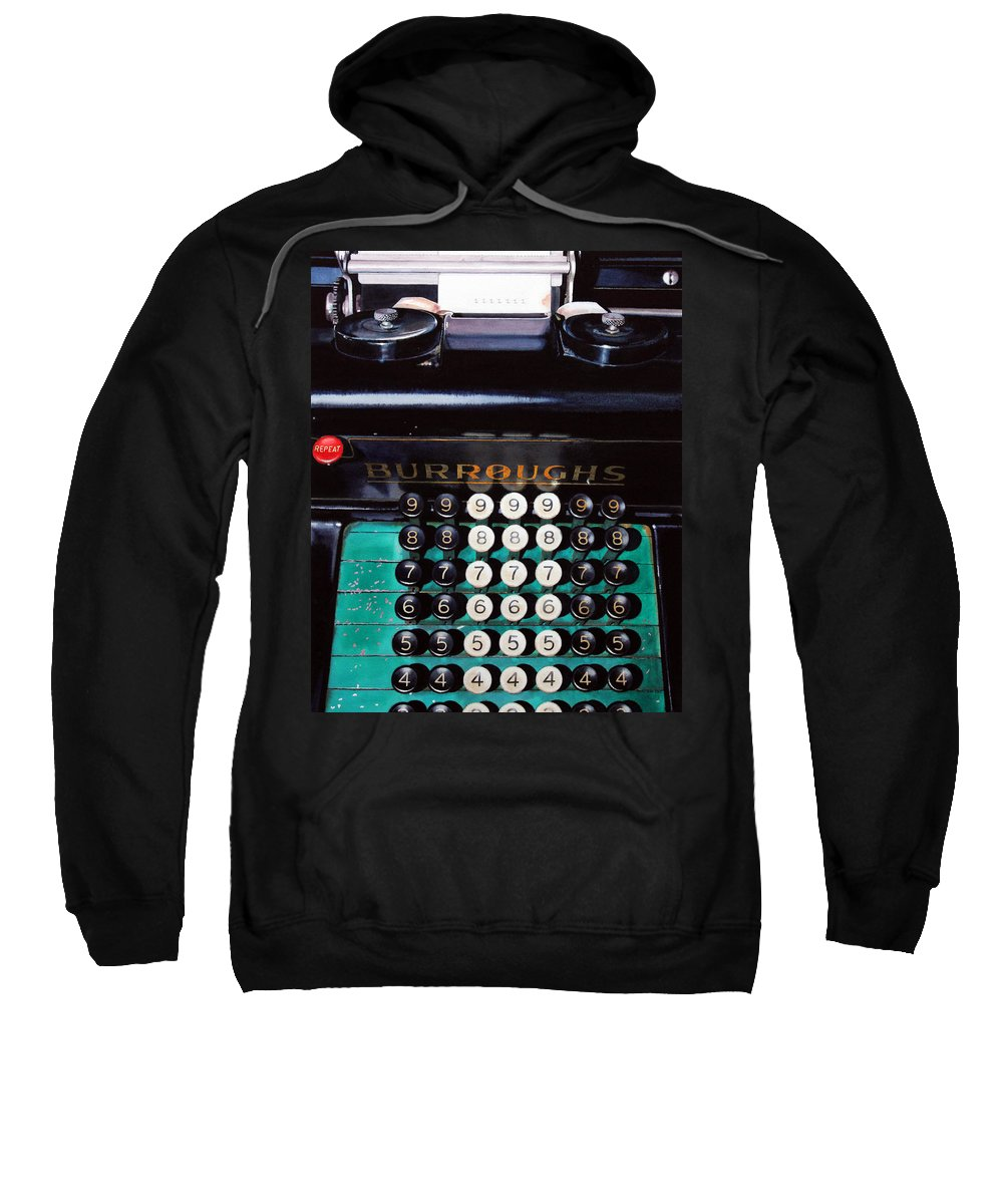 Adding Machine Sweatshirt featuring the painting Repeat by Denny Bond