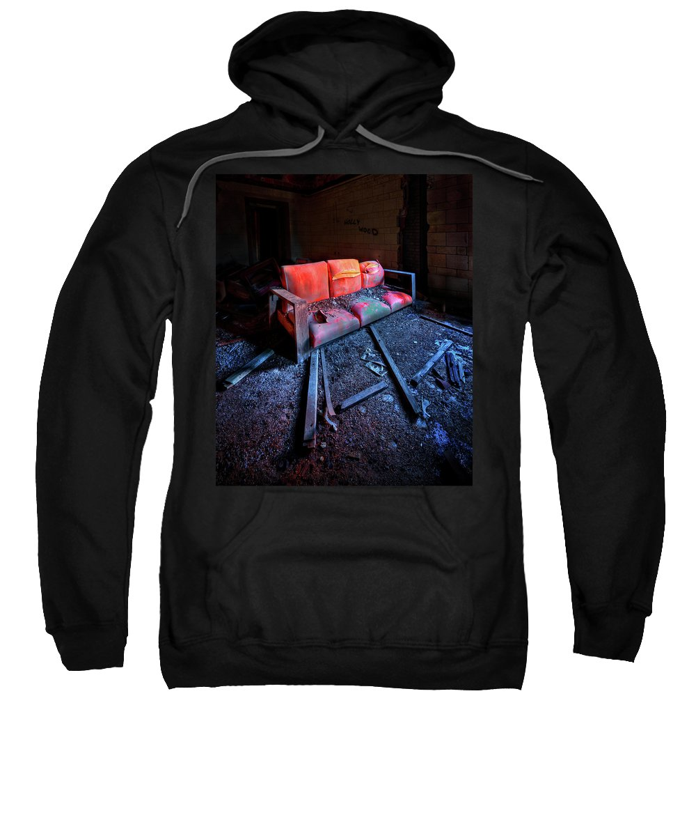 Couch Sweatshirt featuring the photograph Rest In Pieces by Evelina Kremsdorf